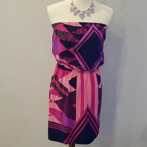 EXPRESS Strapless Asymmetrical Dress